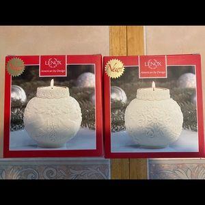 Lenox holiday candles  - bone China
